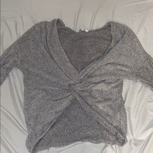 Twisted front crop top